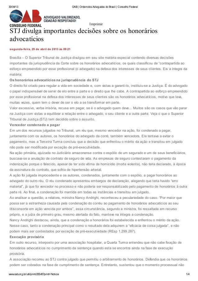 30/04/13 OAB | Ordem dos Advogados do Brasil | Conselho Federalwww.oab.org.br/util/print/25545?print=Noticia 1/4STJ divulg...