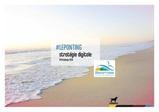 #LEPONTING stratégie digitale Printemps 2012