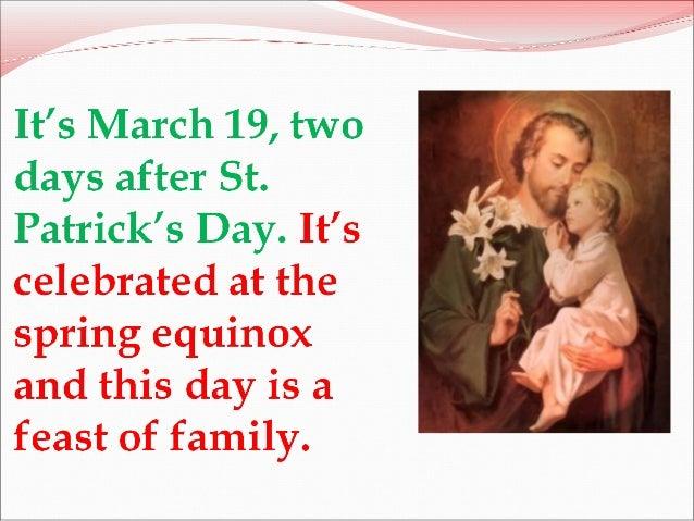 St Joseph's day Slide 2