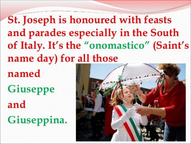 St Joseph's day Slide 3