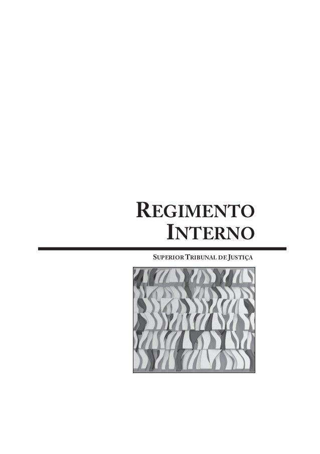 REGIMENTO INTERNO SUPERIOR TRIBUNAL DE JUSTIÇA