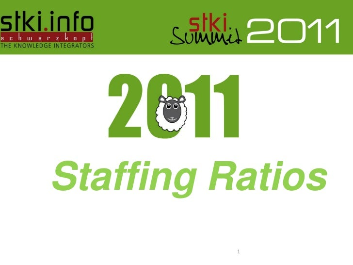 Staffing Ratios  Pini Cohen's work Copyright 2011 @STKI                                  1  Do not remove source or attrib...