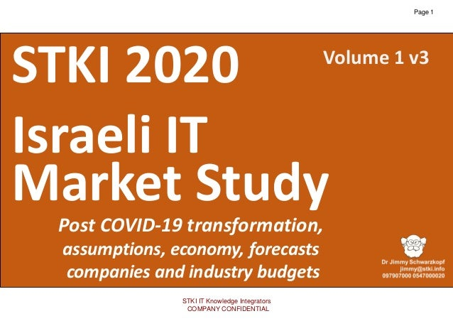 1 Copyright@STKI_2020 Do not remove source or attribution from any slide, graph or portion of graph v3 STKI 2020 Israeli I...