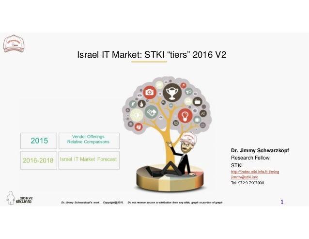 "1 Israel IT Market: STKI ""tiers"" 2016 V2 Dr. Jimmy Schwarzkopf Research Fellow, STKI http://index.stki.info/it-tiering jim..."