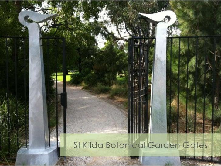 St Kilda Botanical Garden Gates<br />