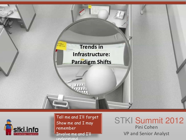 Trends in        Infrastructure:        Paradigm ShiftsTell me and I'll forgetShow me and I may         STKI Summit 2012re...