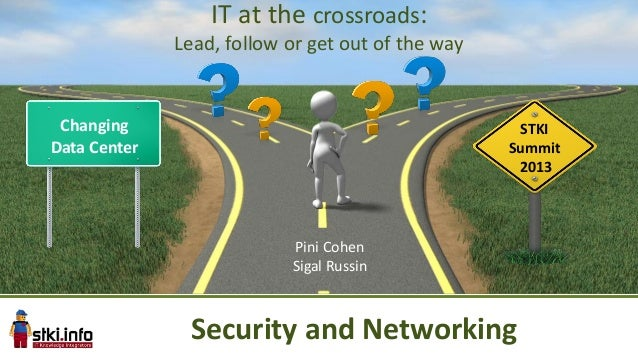Changing Data Center STKI Summit 2013 IT at the crossroads: Lead, follow or get out of the way Pini Cohen Sigal Russin Sec...
