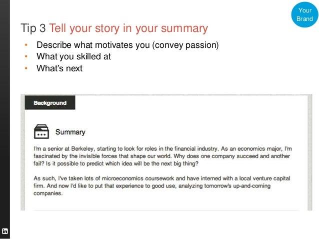 Graduate Linkedin Profile Summary Examples Finance Www Picsbud Com