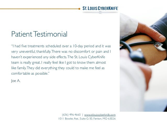 """PatientTestimonial """"I had five treatments scheduled over a 10-day period and it was very uneventful, thankfully.There was n..."""