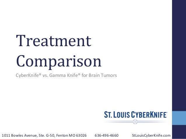 Treatment   Comparison      CyberKnife®  vs.  Gamma  Knife®  for  Brain  Tumors   1011  Bowles  Av...