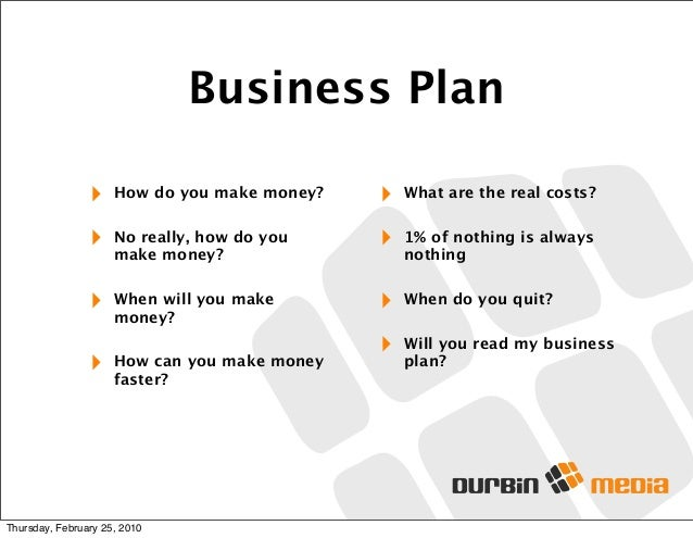 Do You Really Need A Business Plan A Business Plan For A Startup