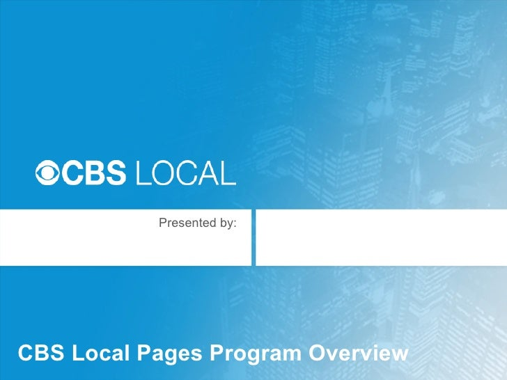 CBS Local Pages Program Overview