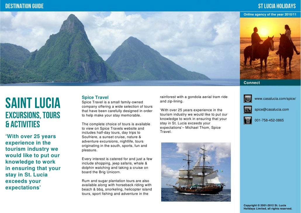 st lucia holidays   excursions tours amp activities