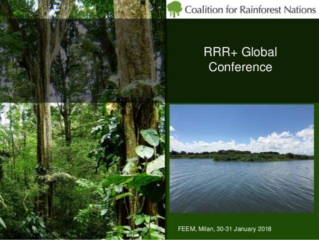 RRR+ Global Conference FEEM, Milan, 30-31 January 2018