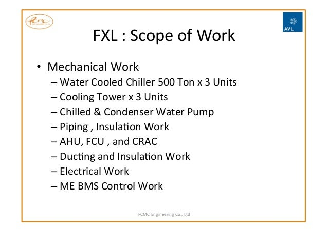 electrical scope of work example