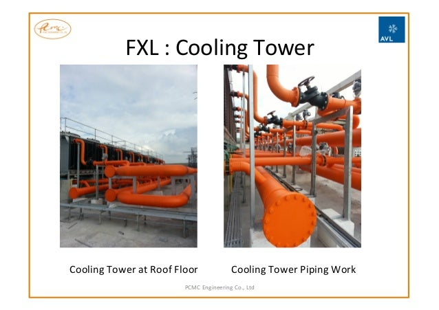 FXL  :  Cooling  Tower       PCMC  Engineering  Co.,  Ltd   Cooling  Tower  Piping  Work  Cool...