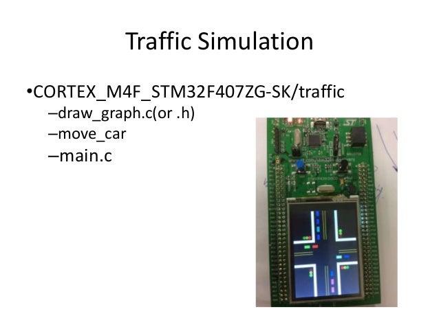 Traffic Simulation  •CORTEX_M4F_STM32F407ZG-SK/traffic  –draw_graph.c(or .h)  –move_car  –main.c