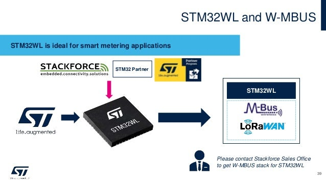 STM32WL and W-MBUS STM32WL is ideal for smart metering applications STM32WL Please contact Stackforce Sales Office to get ...