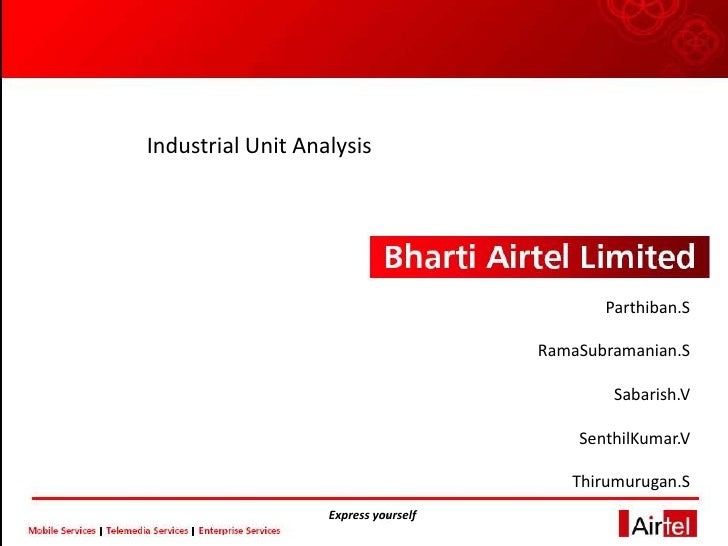 Industrial Unit Analysis                                                  Parthiban.S                                     ...