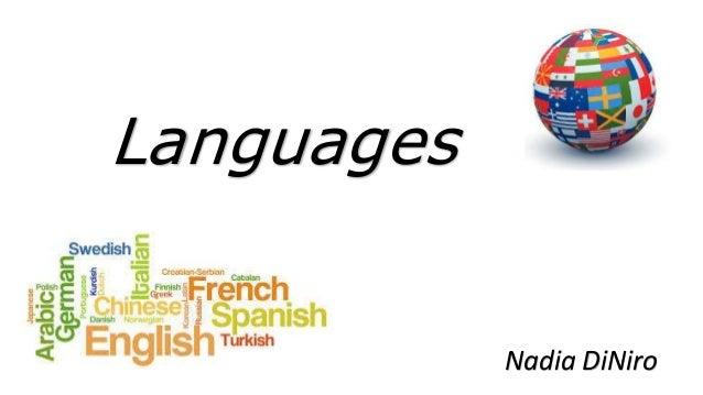 Languages Nadia DiNiro