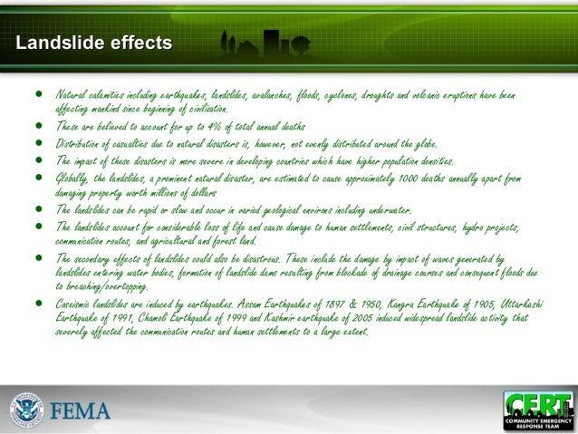 impacts of landslides