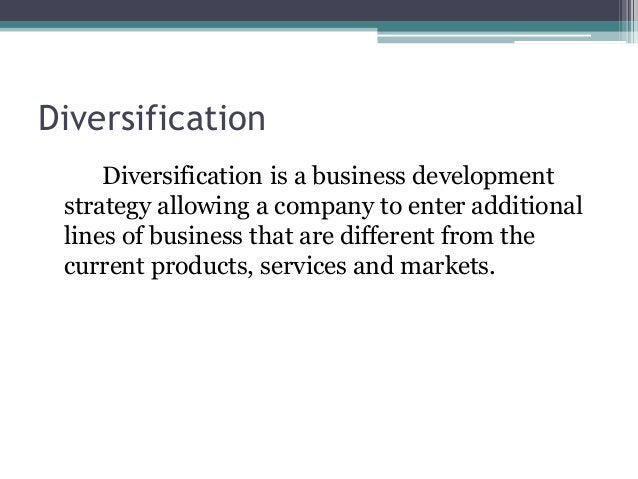Why do Firms Diversify? • When they have excess resources, capabilities, and core competencies that have multiple uses • D...