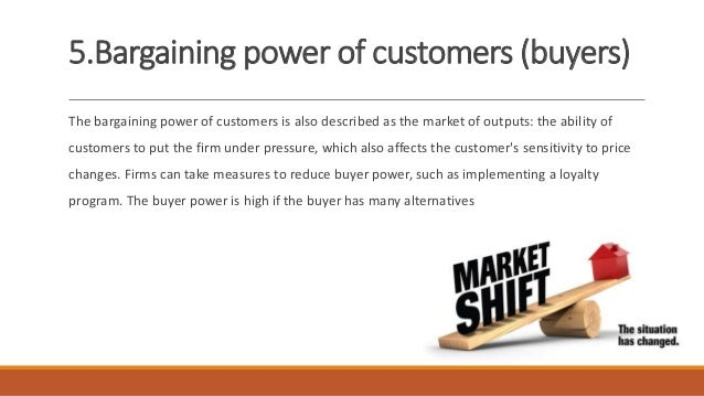 bargaining power of customers Level of dependence – when the industry is not a key customer group for  suppliers, their bargaining power increases buyers are dependent on suppliers, .