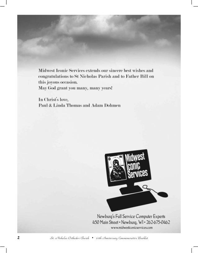 20th Anniversary Commemorative Booklet St  Nicholas Orthodox