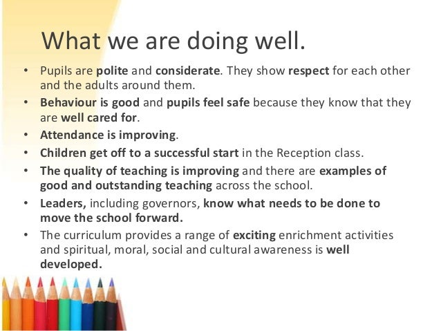 St Nicholas C of E Primary School OFSTED report presentation for parents Slide 3