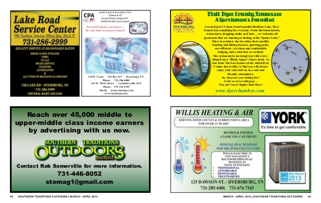 Southern traditions outdoors march april 2015 for Tn fishing license cost