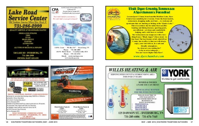 Southern traditions outdoors may june 2015 for Tennessee fishing license prices