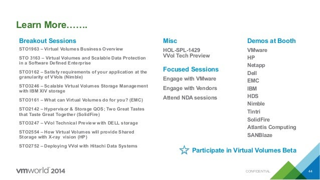 Vmworld 2014 Virtual Volumes Technical Deep Dive