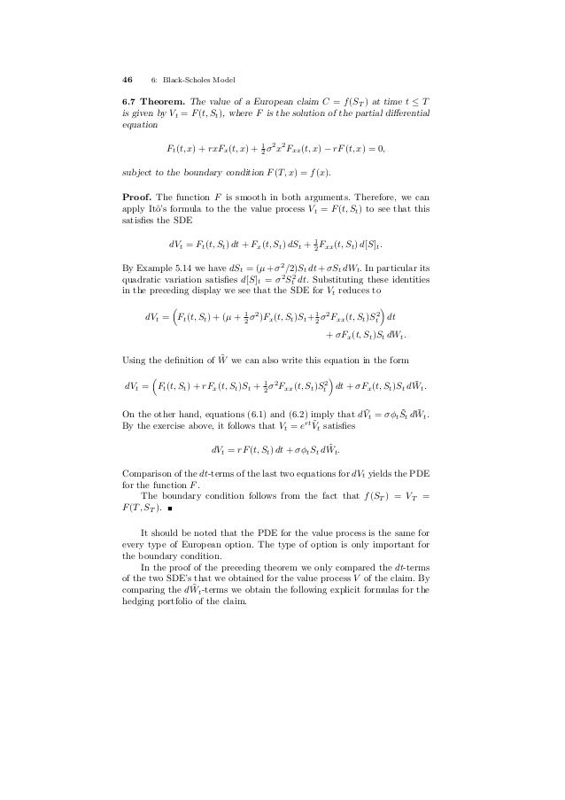 Stochastic processes for_finance_dictaat2 (1)
