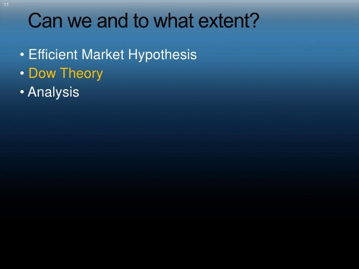an analysis of the efficient market hypothesis in investment theory of economics By jason van bergen an important debate among stock market investors is whether the market is efficient - that is, whether it reflects all the information made available to market participants at any given time the efficient market hypothesis (emh) maintains that all stocks are perfectly priced according to their inherent investment.