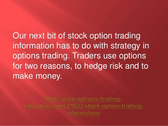 Information about stock options