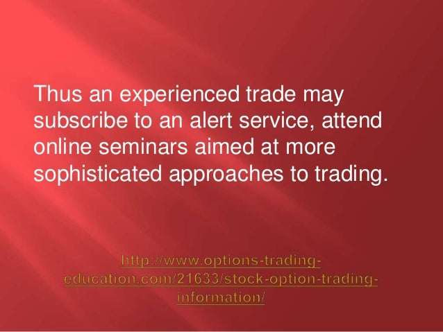 Information about option trading