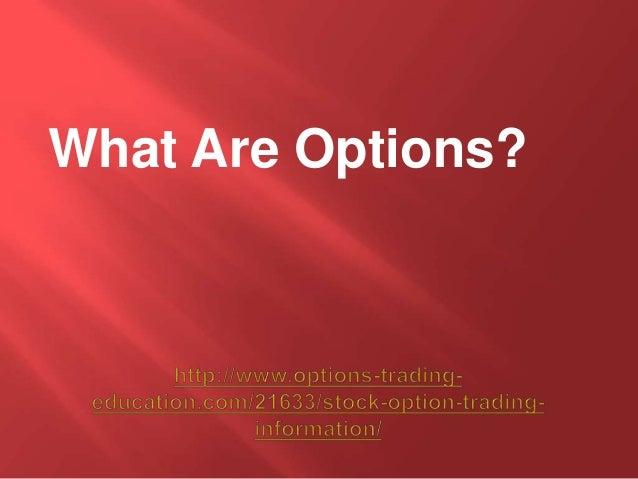 Option trading details