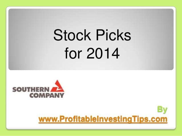 Stock Picks for 2014  By www.ProfitableInvestingTips.com