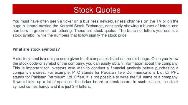 Stock Quote Prices