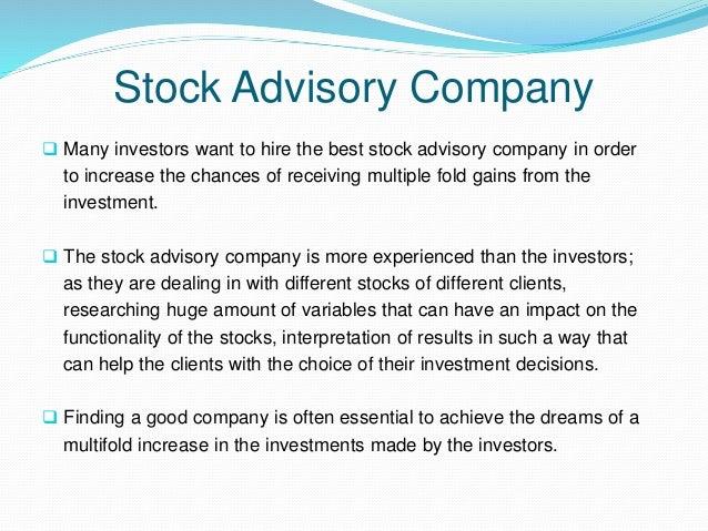 Stock Advisory Company