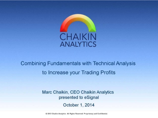 CHAI KIN ANALYTICS  Combining Fundamentals with Technical Analysis to Increase your Trading Profits  Marc Chaikin,  CEO Ch...