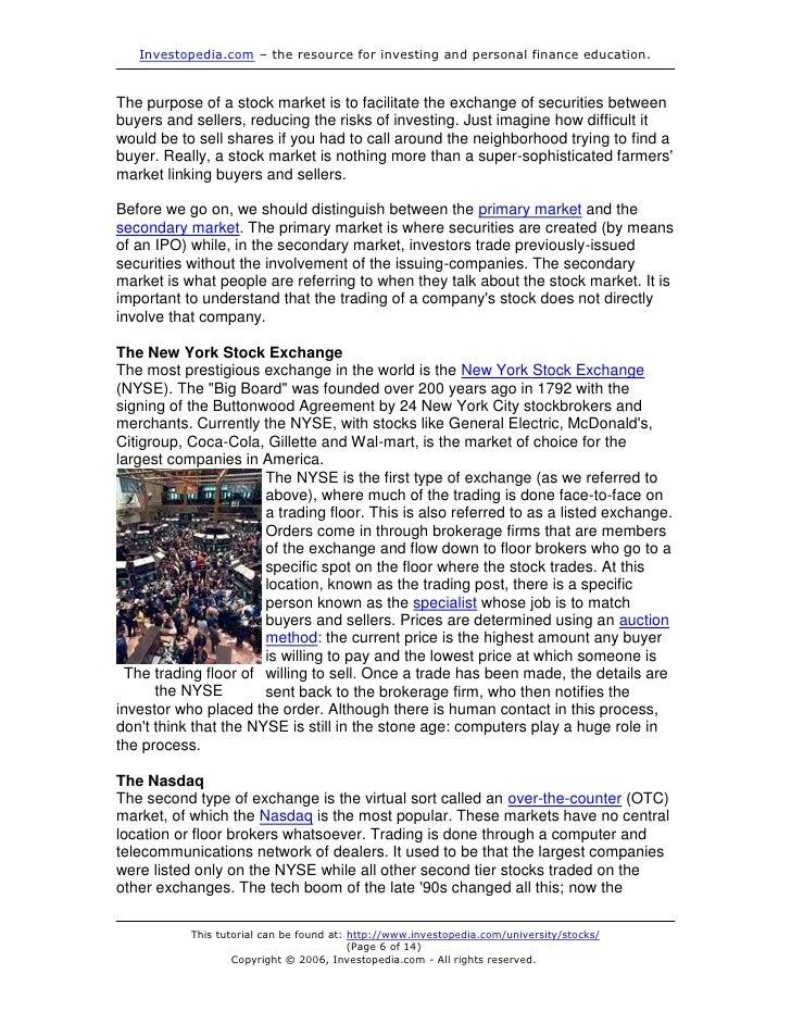 Stock options tutorial pdf
