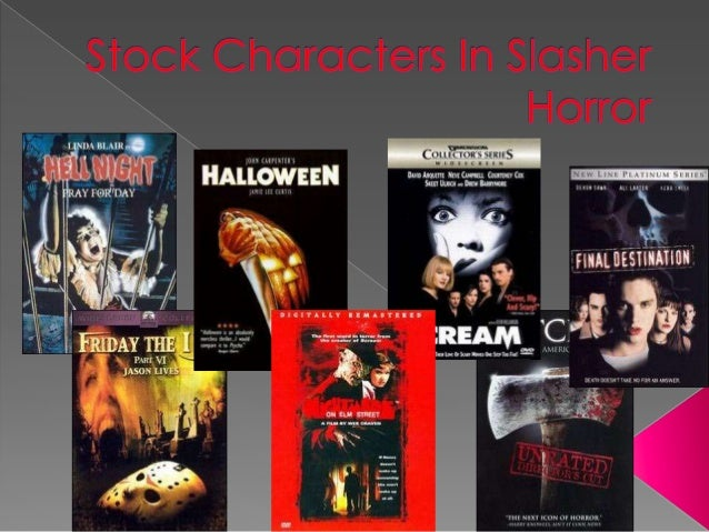 Stock characters in slasher horror