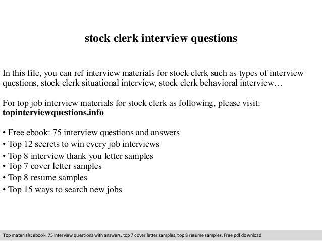 sample resume for retail stock clerk