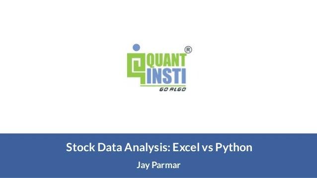 Jay Parmar Stock Data Analysis: Excel vs Python