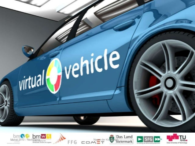 © VIRTUAL VEHICLEMonat 2013 / Nachname 1Name der Konferenz