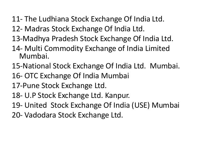 stock exchange of indian Established in 1875, bse (formerly known as bombay stock exchange ltd), is asia's first & the fastest stock exchange in world with the speed of 6 micro seconds and.