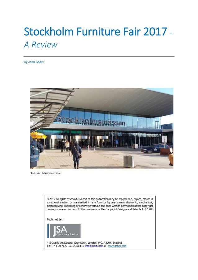 Stockholm Furniture Fair 2017 A Review