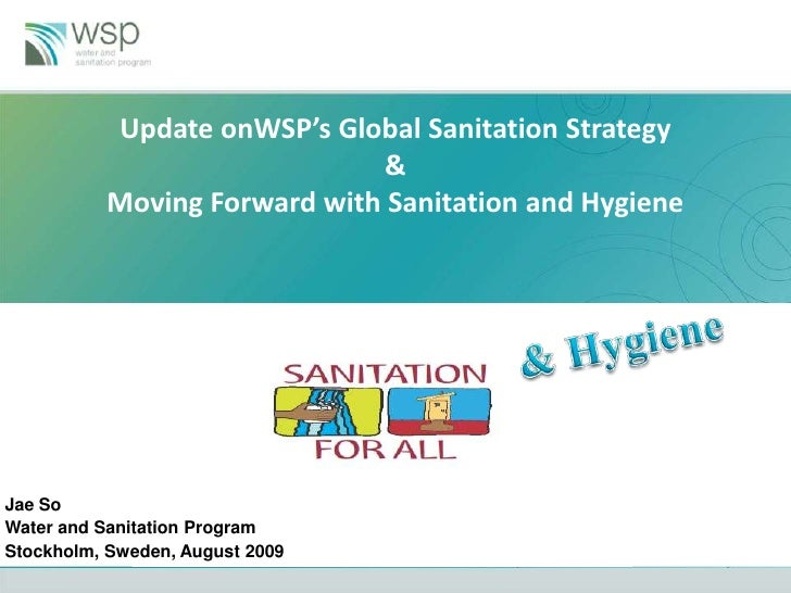 Update onWSP's Global Sanitation Strategy                              &           Moving Forward with Sanitation and Hygi...
