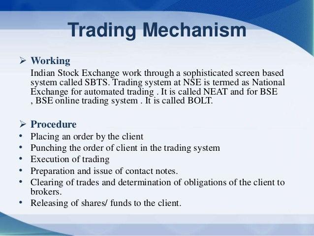 online trading mechanism